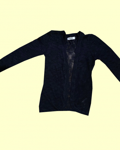 Women's Navy Knitted Cardigan Size L