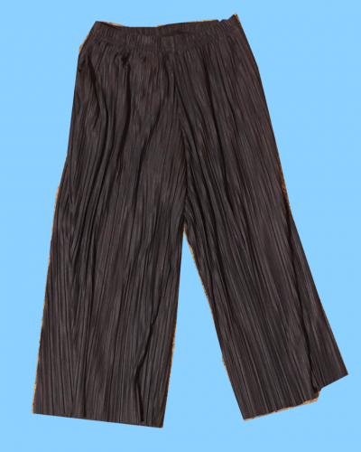 Grey Pleated Culottes (Size 8)
