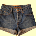 Blue Denim Shorts, Size 8, #1135