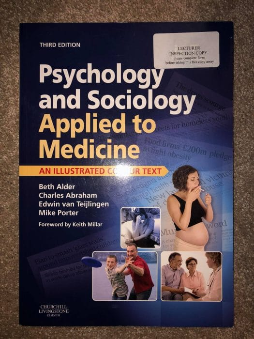 Psychology & Sociology Applied to Medicine