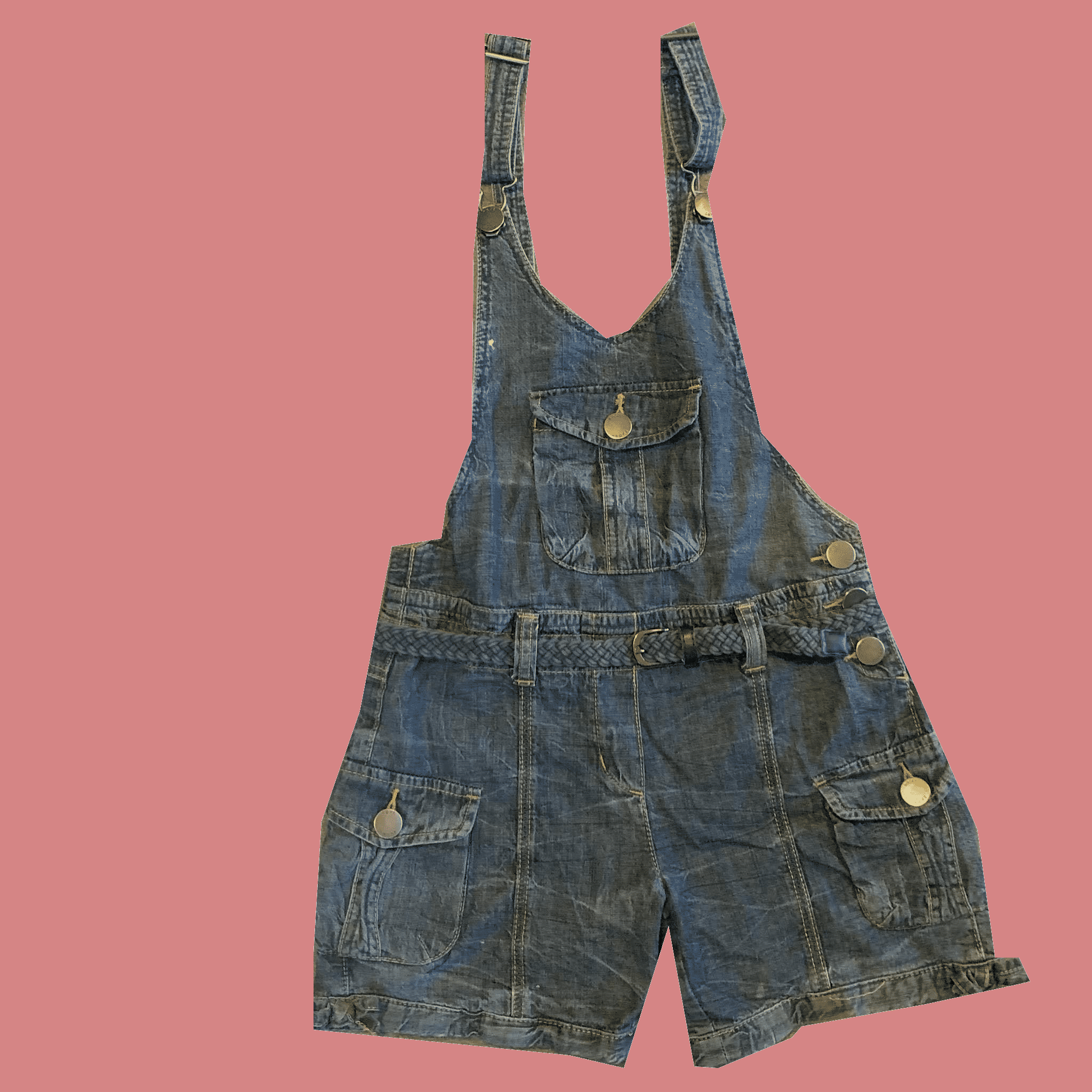 Blue Denim Overalls, Size- 11 years old, #380