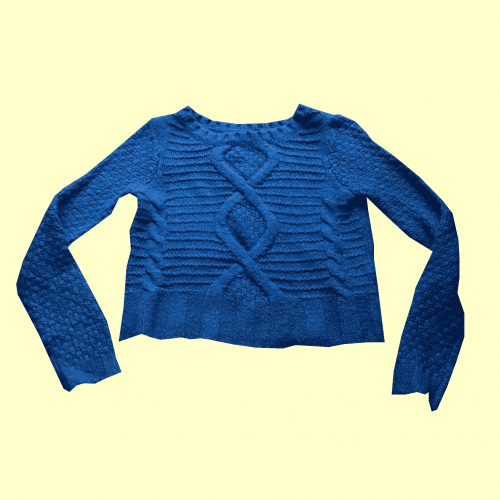 Blue Knitted Jumper in Size 8