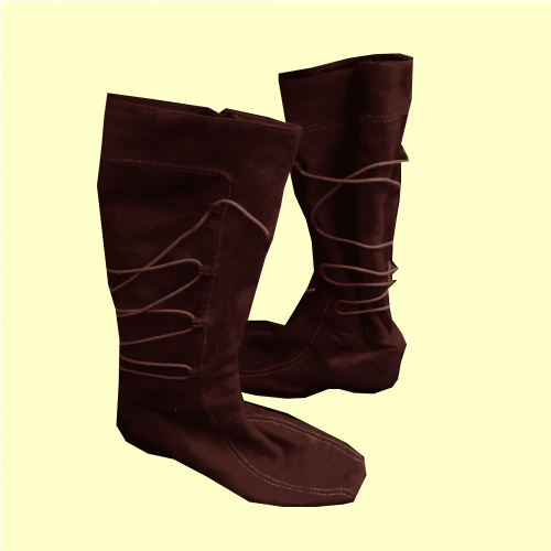 Wine Knee-High Wedge Boots in Size 7