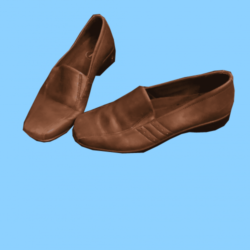 Brown Leather Shoes with Wedge Heel in Size 5