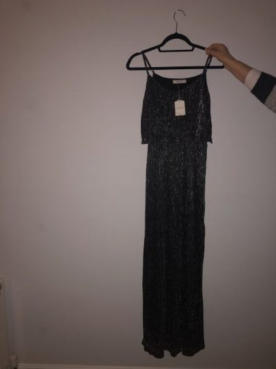 Black and silver maxi dress Oasis