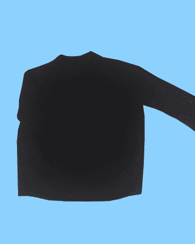 Wooly Black Jumper Size Small H&M