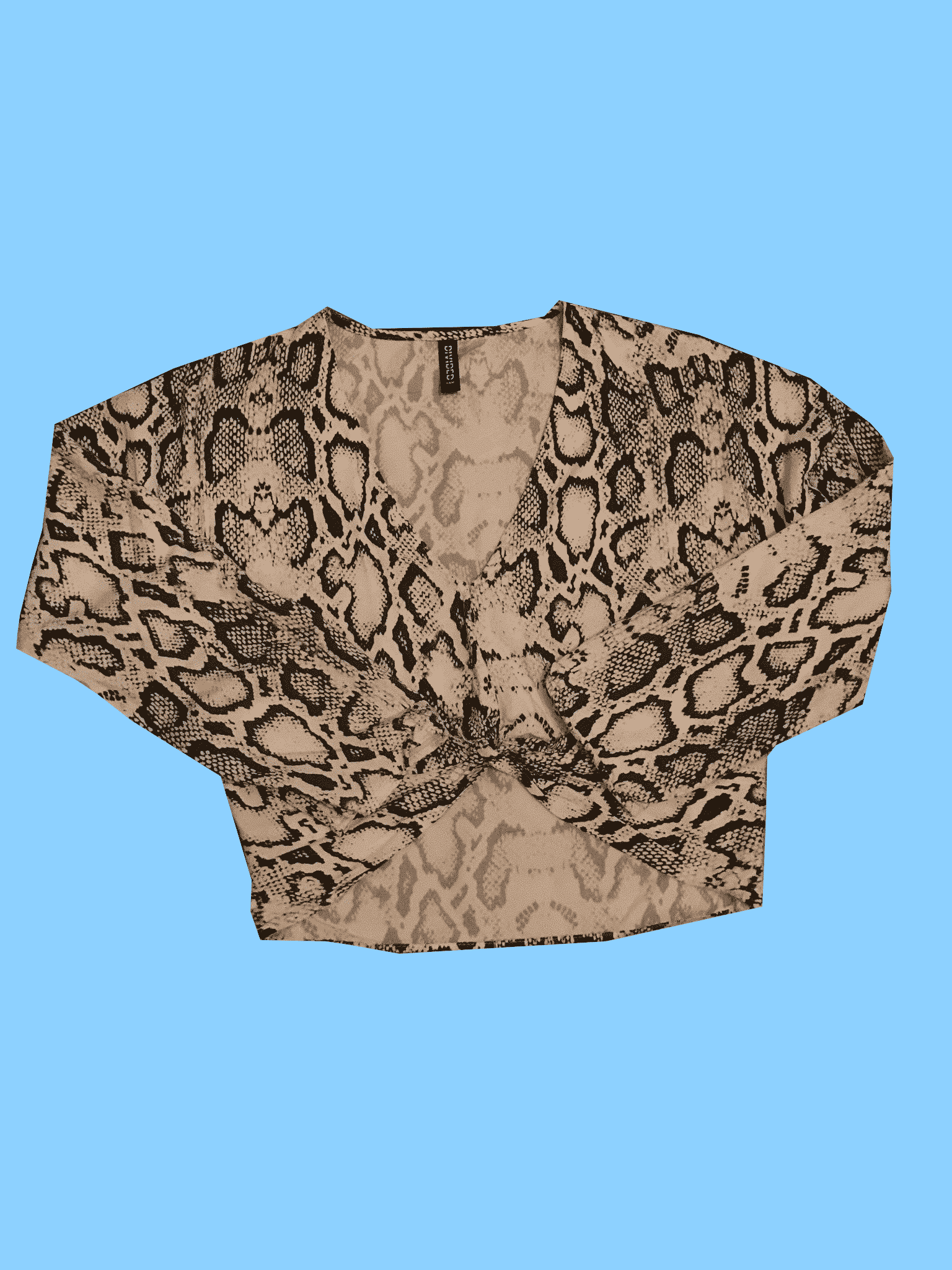 Patterned Crop Top in Size 6