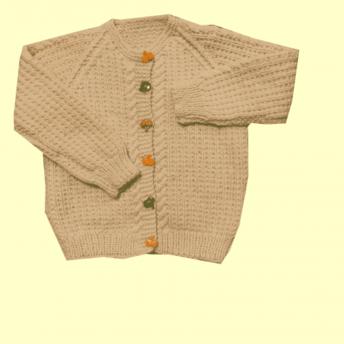 Children's cardigan with coloured buttons