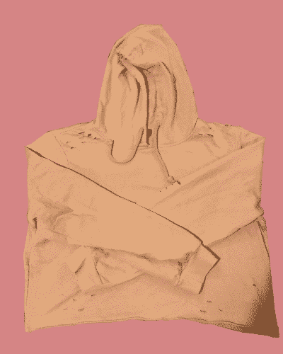 Pale Pink Ripped Hoodie (Size 16)