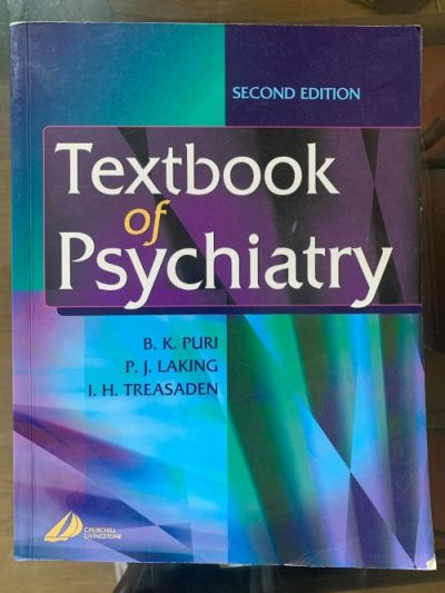Textbook of Psychiatry Second Edition